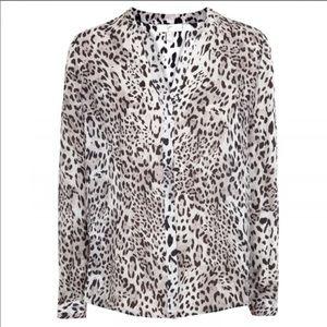 100% silk leopard Joie blouse